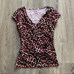 Cute Merona Leopard Wrap T Shirt